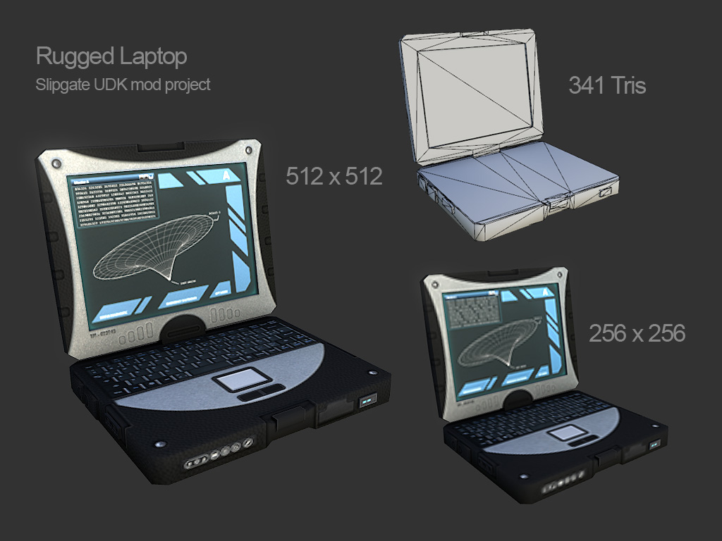 Rugged Laptop for UDK mod
