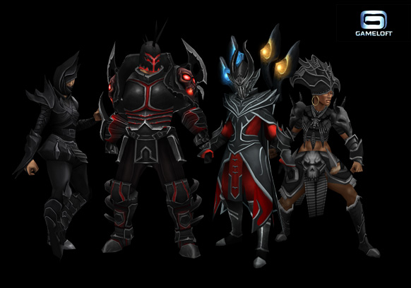 Dungeon Hunters 3 armor sets