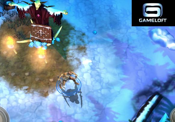 Dungeon Hunters 3 winter wilderness map